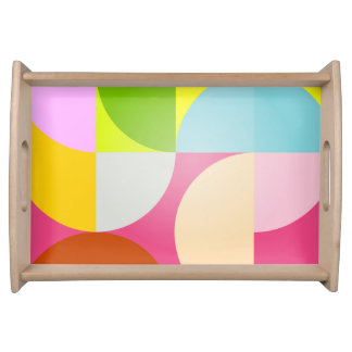 Retro Design merry colors Serving Tray