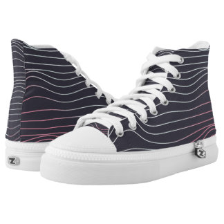 Retro design, wave high tops
