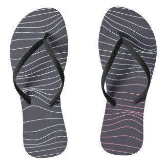 Retro design, wave lines  flip flops