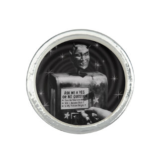 Retro Devil Question Box (vintage) Rings