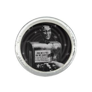 Retro Devil Question Box vintage Rings