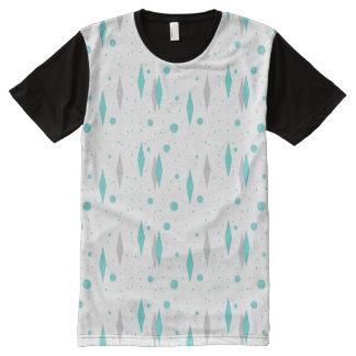 Rétro diamant de turquoise et T-shirt de panneau