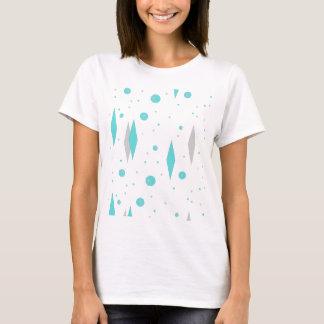 Rétro diamant de turquoise et T-shirt de Starburst