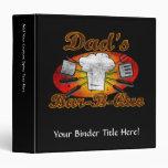 Retro Diner, Dad's Bar-B-Que 3 Ring Binder