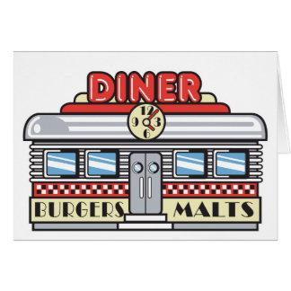 retro diner design card