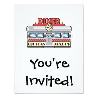 retro diner design invites