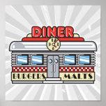 retro diner design print