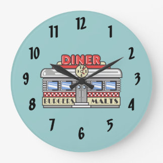 Retro DIner Large Clock
