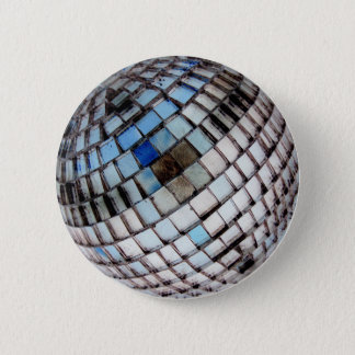 Retro Disco Ball Metal Mirror 2 Inch Round Button