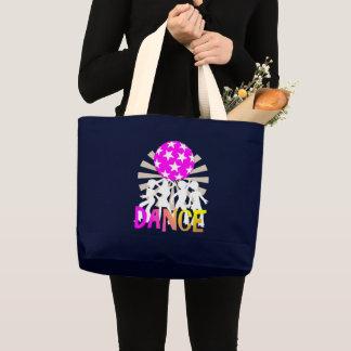 Retro Disco Dancing Dance Graphic Large Tote Bag