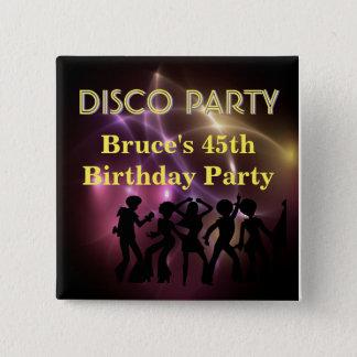 Retro Disco Party Theme Button