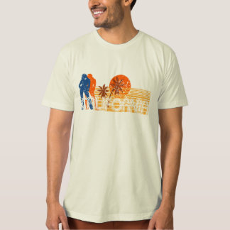 Retro distressed California beach 80s surf tee