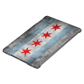 Retro Distressed Chicago Flag Cover For iPad Air