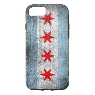 Retro Distressed Chicago Flag iPhone 7 Case