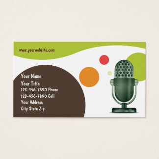 Retro DJ Business Card, Business Card