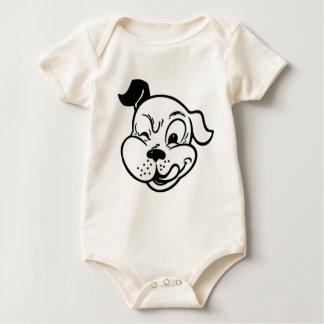 Retro Dog Winking Baby Bodysuit