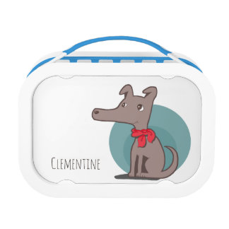 Retro Dog With a Red Scarf Lunch Box