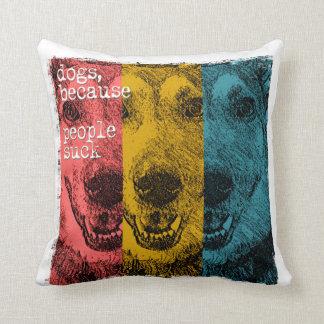 Retro dogs, because people suck throw pillows