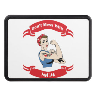 Retro Don't Mess with MOM Trailer Hitch Cover