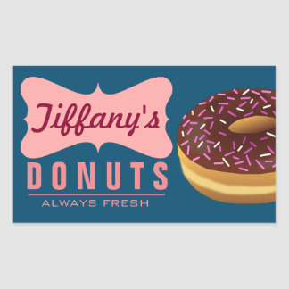 Retro Donut Shop | Donuts Baker | Doughnut Bakery Sticker