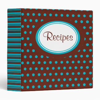 Retro Dot Recipe Binder
