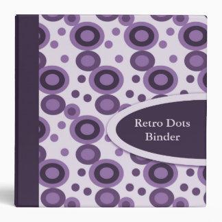 "Retro Dots 2"" Designer Purple Binders"