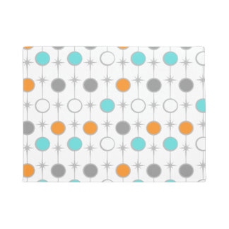 Retro Dots and Starbursts Door Mat