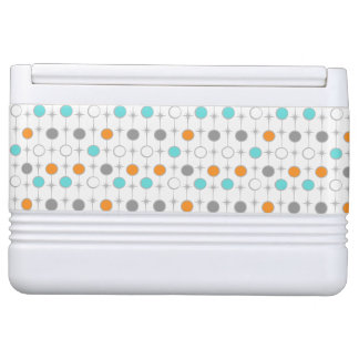 Retro Dots and Starbursts Igloo Can Cooler