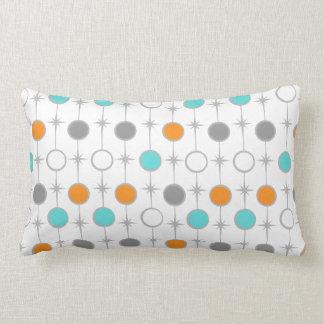 Retro Dots and Starbursts Lumbar Pillow