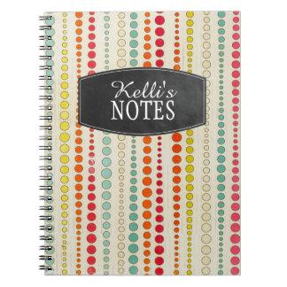 Retro Dots Note Book