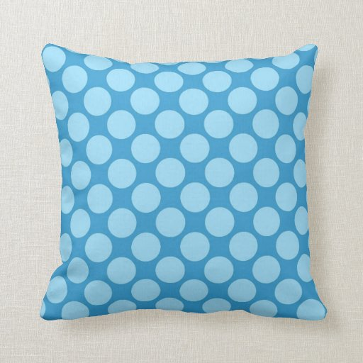 Ocean Blue Decorative Pillows : Retro dots - Ocean blue Pillows Zazzle