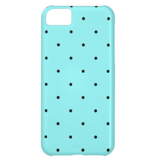 Retro dots on blue cover for iPhone 5C