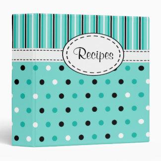 Retro Dots Recipe Binder