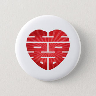 Retro Double Happy Heart 2 Inch Round Button
