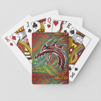 Retro Dragon Tattoo/Graffiti Playing Cards