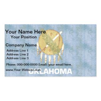 Rétro drapeau vintage de l'Oklahoma Cartes De Visite Professionnelles