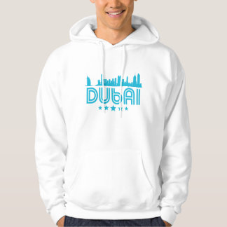 Retro Dubai Skyline Hoodie