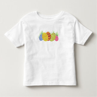 Retro Easter Eggs in the Grass Toddler T-shirt