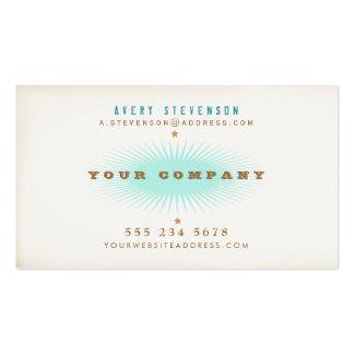 Rétro éclat de turquoise de typographie de style carte de visite standard