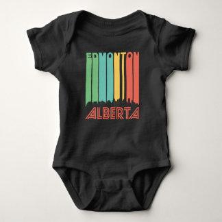 Retro Edmonton Alberta Canada Skyline Baby Bodysuit