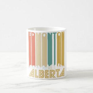 Retro Edmonton Alberta Canada Skyline Coffee Mug