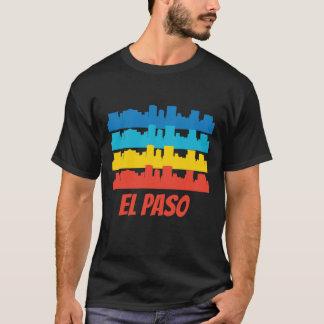 Retro El Paso TX Skyline Pop Art T-Shirt