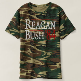 Retro Election Ronald Reagan Bush 84 T-shirt