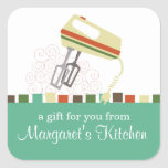 Retro electric mixer baking cooking gift tag label