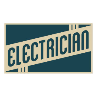 retro electrician business card