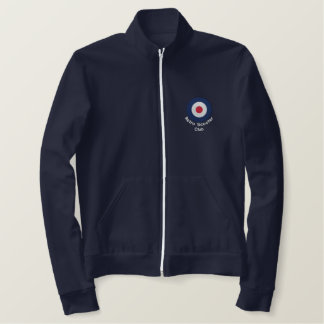 Retro Embroidered Mod Scooter target fleece jogger Embroidered Jacket
