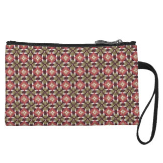 Retro embroidery wristlet purse