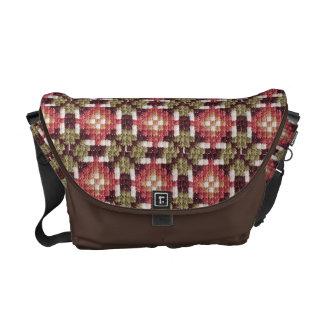 Retro embroidery messenger bag medium