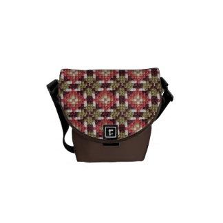 Retro embroidery messenger bag mini