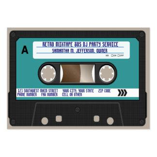 Rétro enregistreur à cassettes 80s carte de visite grand format